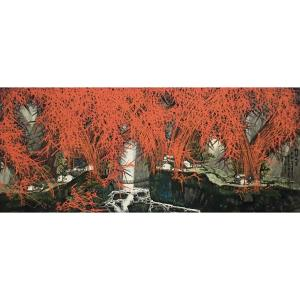 原东平国画作品《【红竹】作者原东平》价格144000.00元