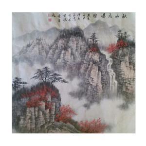 杨玉忠国画作品《【山水】作者杨玉忠(可定制)》价格6720.00元