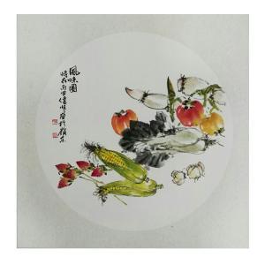 许伟明国画作品《【素菜香】作者许伟明》价格600.00元