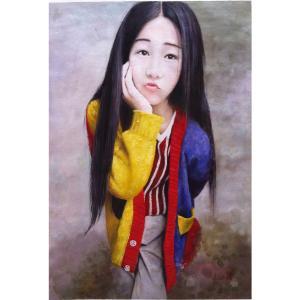凌振宁油画作品《【女孩】作者凌振宁》价格2400.00元