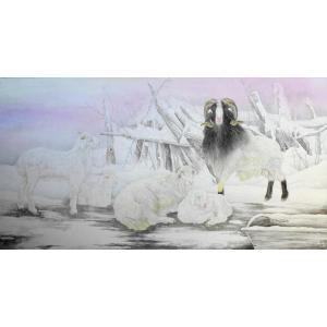 傅饶国画作品《【羊羊得意】作者傅饶》价格28800.00元