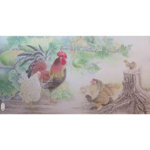 傅饶国画作品《【瓜田李下】作者傅饶》价格28800.00元
