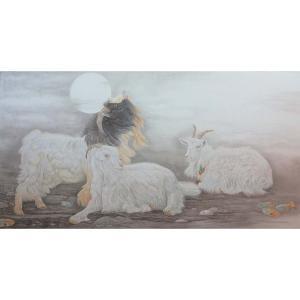 傅饶国画作品《【与世无争】作者傅饶》价格28800.00元