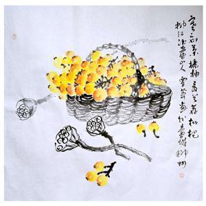 覃莽国画作品《【果香满溢】作者覃莽》价格6240.00元