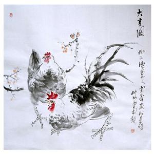 覃莽国画作品《【大吉图】作者覃莽》价格6240.00元