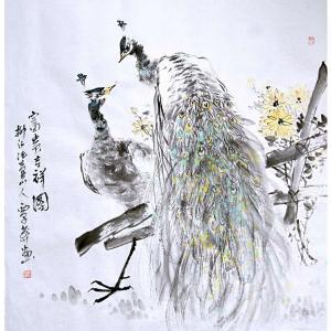 覃莽国画作品《【富贵吉祥图】作者覃莽》价格6240.00元