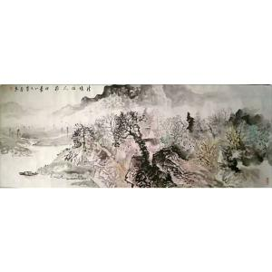 覃莽国画作品《【青山有人家】作者覃莽》价格14400.00元
