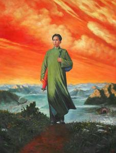 张恒久油画作品《红色恒久》价格40000.00元