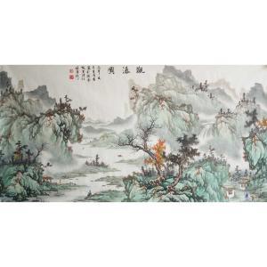 王凌云国画作品《【观瀑图2】作者王凌云》价格2400.00元
