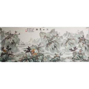 王凌云国画作品《【河山览胜】作者王凌云》价格3600.00元