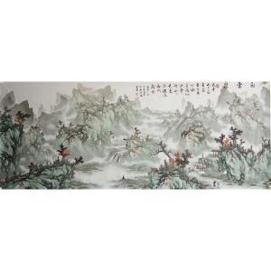 王凌云国画作品《【白云泉】作者王凌云》价格3600.00元