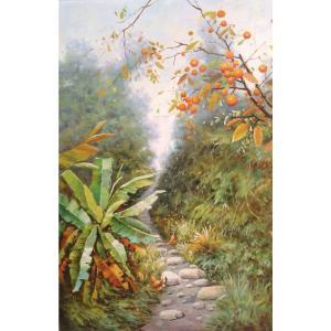 莫明标油画作品《【幽然小径】作者莫明标 临摹》价格768.00元