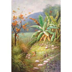莫明标油画作品《【后花园】作者莫明标 临摹》价格768.00元