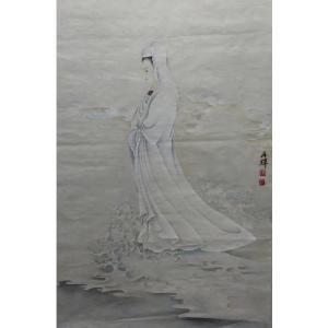 唐再辉国画作品《【南海观音图】作者唐再辉》价格10800.00元