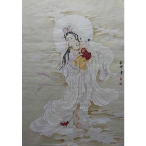唐再辉国画作品《【送子观音图】作者唐再辉》价格10800.00元