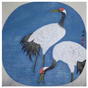 唐再辉国画作品《【仙鹤】作者唐再辉》价格3600.00元