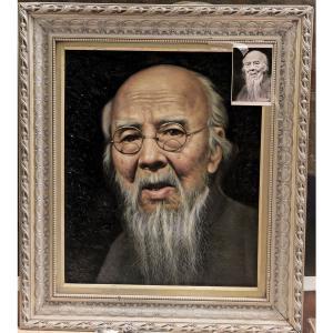 张大胜油画作品《【齐白石】作者张大胜》价格36000.00元