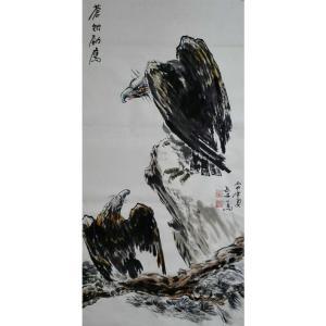 邵西安国画作品《【苍松劲鹰】作者邵西安》价格7680.00元