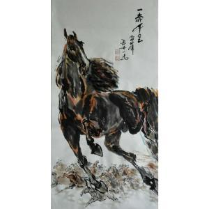 邵西安国画作品《【一奔千里】作者邵西安》价格7680.00元