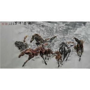 邵西安国画作品《【风雪千里】作者邵西安》价格7680.00元