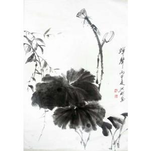 刘洪彬国画作品《【蝉声】作者刘洪彬》价格21120.00元