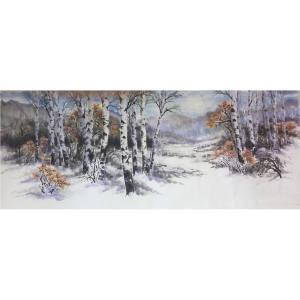 许金玉国画作品《【雪之景】作者许金玉》价格1440.00元