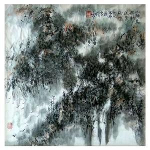狄峰国画作品《【静山】作者狄峰》价格3600.00元