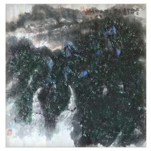 狄峰国画作品《【身居秋林中】作者狄峰》价格3600.00元