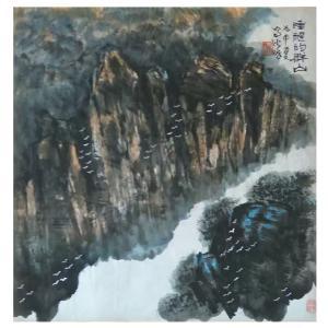 狄峰国画作品《【睡醒的群山】作者狄峰》价格3600.00元
