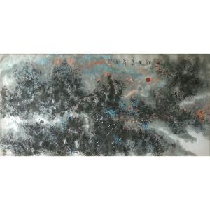 狄峰国画作品《【乱林图】作者狄峰》价格7200.00元