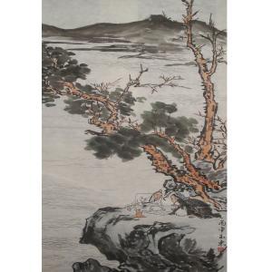 修玉东国画作品《【下棋】作者修玉东》价格2352.00元