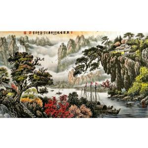 姚天顺国画作品《【山水风景】作者姚天顺》价格72000.00元