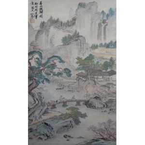赵建乐国画作品《【春山游骑图】作者赵建乐》价格840.00元