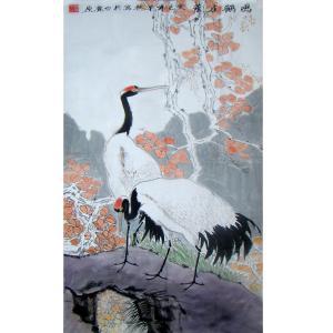赵建乐国画作品《【鸣鹤在阴】作者赵建乐》价格480.00元