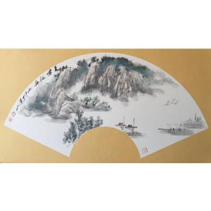 祝汉山国画作品《【山水3】作者祝汉山》价格240.00元