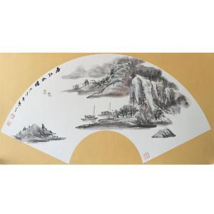 祝汉山国画作品《【山水5】作者祝汉山》价格240.00元