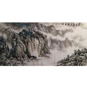 祝汉山国画作品《【山水9】作者祝汉山》价格960.00元