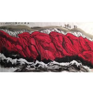 祝汉山国画作品《【山水8】作者祝汉山》价格960.00元