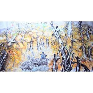 李沛泰国画作品《【放牧图】作者李沛泰》价格4800.00元