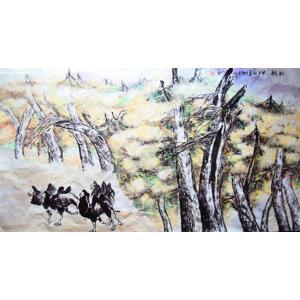 李沛泰国画作品《【森林骆驼】作者李沛泰》价格4800.00元