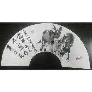 吴俊彬国画作品《【牧驴图1】作者吴俊彬》价格6720.00元