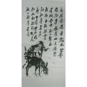 吴俊彬国画作品《【牧驴图2】作者吴俊彬》价格6720.00元
