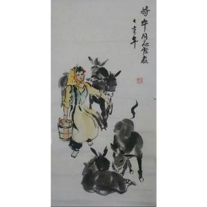吴俊彬国画作品《【牧牛图3】作者吴俊彬》价格6720.00元