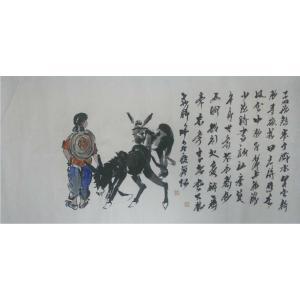 吴俊彬国画作品《【牧牛图8】作者吴俊彬》价格12000.00元