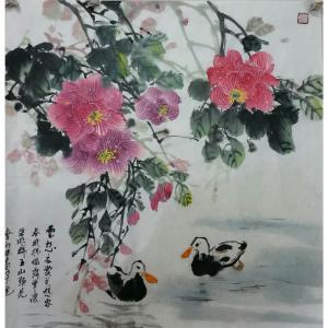 刘春香国画作品《【成双成对】作者刘春香》价格1200.00元