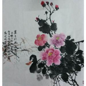 刘春香国画作品《【花想容】作者刘春香》价格1200.00元