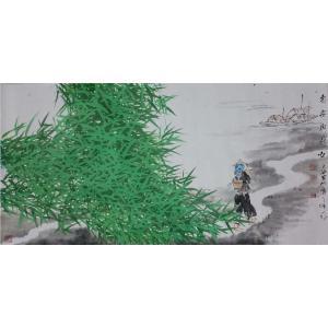 刘春香国画作品《【溯溪而上】作者刘春香》价格2400.00元