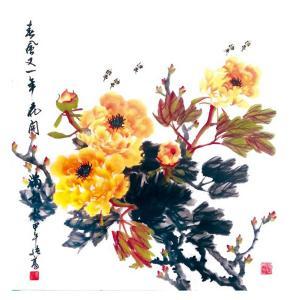 卢绪高国画作品《【花开富贵】作者卢绪高》价格1200.00元