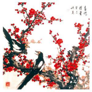 卢绪高国画作品《【喜传佳音】作者卢绪高》价格1200.00元