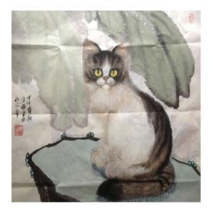 于福东国画作品《【小猫1】作者于福东》价格2400.00元